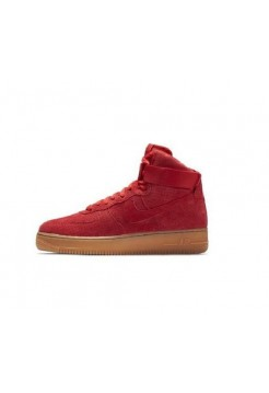 Кроссовки Nike Air Force 1 high suede red (А211)