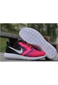 Кроссовки Nike Roshe Run black/pink (АО171)