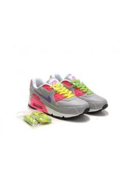 Кроссовки Nike Air Max 90 Серо-розовые (А213)