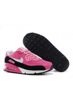 Кроссовки Nike Air Max 90 Розово-черные (А215)