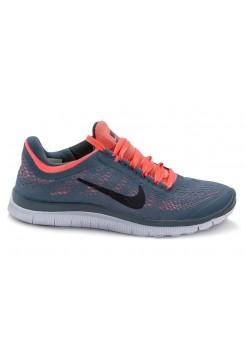 Кроссовки Nike Free Run Серо-розовые (А117)