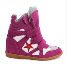 Женские кроссовки Isabel Marant Розовые (А412)