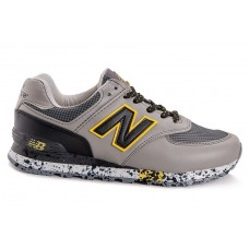 Кроссовки New Balance 574 grey/yellow (А114)