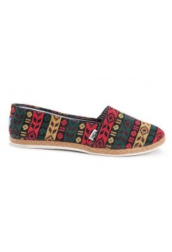 Эспадрильи Toms canvas red/blue/yellow (А119)