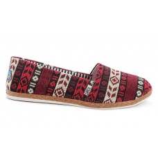 Эспадрильи Toms canvas red/white/purple (А120)