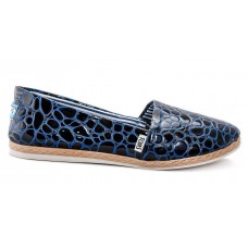 Эспадрильи Toms dark blue/snake (А124)