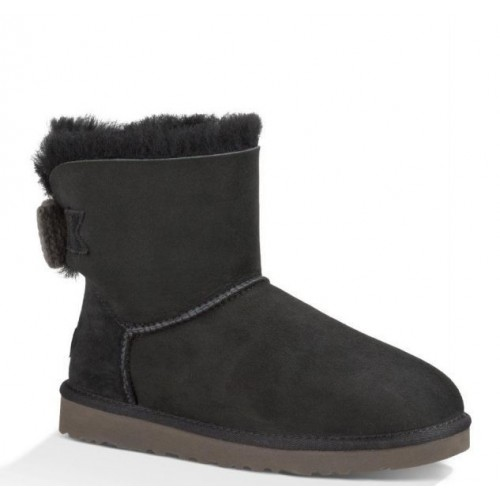 UGG Mini Bailey Knit Bow Black