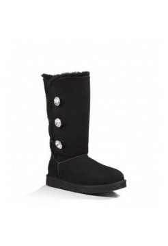 UGG Bailey Button Triplet Bling Black (О266)