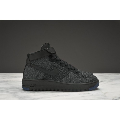 Кроссовки Nike Air Force Ultra Flyknit dark grey (О382)