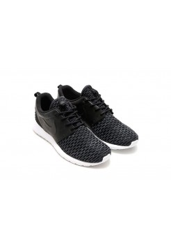 Кроссовки Nike Roshe Run Flyknit Black (О724)
