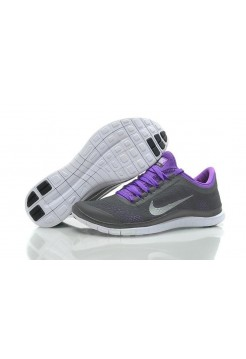 Кроссовки Nike Free Run 3.0 V5 Grey Purple (О312)