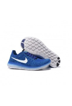 Кроссовки Nike Free Run Flyknit Blue (ОЕ314)