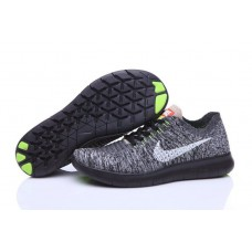 Кроссовки Nike Free Run Flyknit Dark Grey Black (О124)