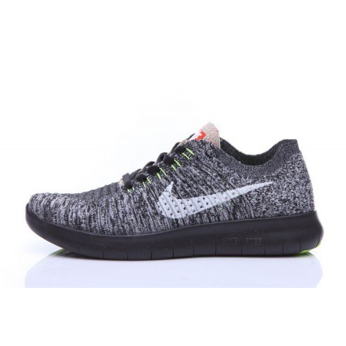 Кроссовки Nike Free Run Flyknit Dark Grey Black (О124)