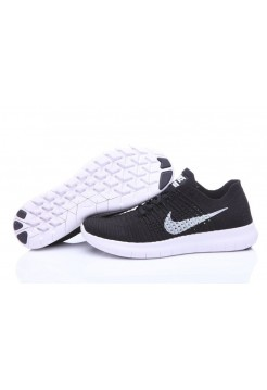 Кроссовки Nike Free Run Flyknit Black White (О126)