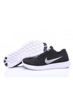 Кроссовки Nike Free Run Flyknit Black White (О126)