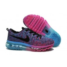 Кроссовки Nike Air Max Flyknit Court Purple Cool Blue Pink Black Cheap (О724)