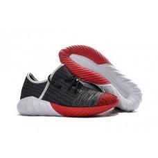 Кроссовки Adidas Yeezy Boost 550 Серо/красные (О413)
