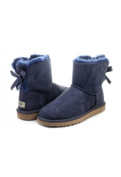 UGG Mini Bailey Bow Blue (М138)