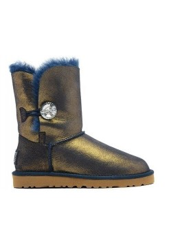 UGG Bailey Button Bling Metallic Blue/Gold (OЕV364)