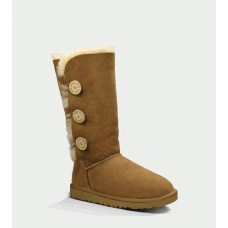 UGG BAILEY BUTTON TRIPLET CHESTNUT