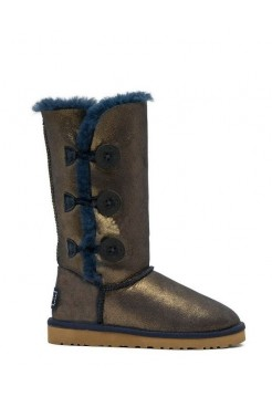 UGG Bailey Button Triplet Nappa Blue Gold (Е443)
