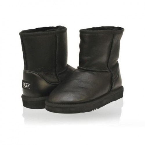 UGG Baby CLASSIC SHORT LEATHER Black