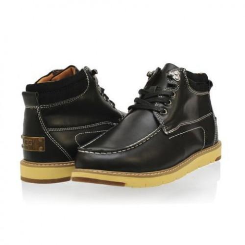 UGG Ботинки Топ кожа Черные (M447)