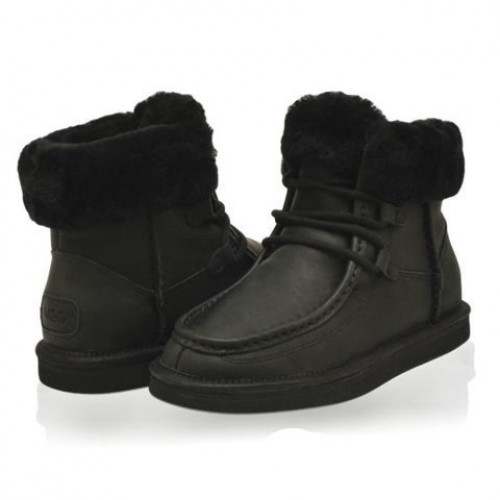 Ботинки UGG Cypress Бурка Кожа Черная