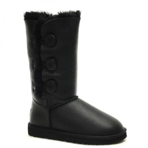 UGG Bailey Button Triplet black пропитка (НЕОS266)