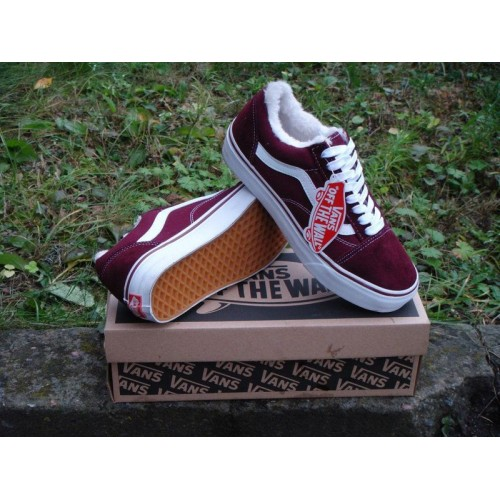 Кеды Vans Old Skool Low Burgundy (W115)