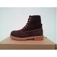 Ботинки Timberland 6 inch Brown Зима (W535)