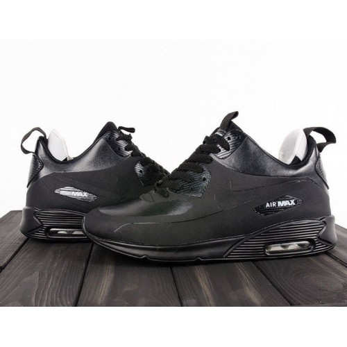Кроссовки Nike Air Max Sneakerboot All Black (W613)