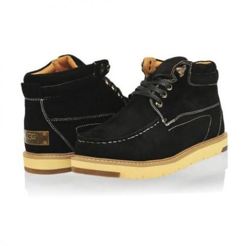 UGG Ботинки Топ замша Черные (M449)