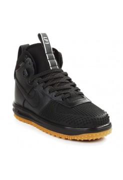 Кроссовки Nike Air Force High Шип черный (М415)