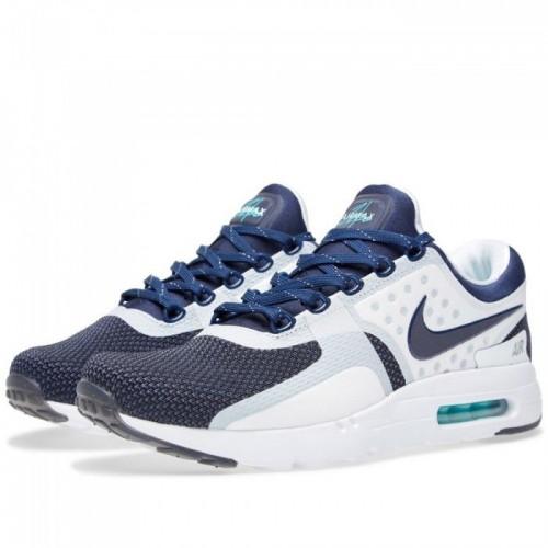 Кроссовки Nike Air Max Zero Сине-белые (М122)