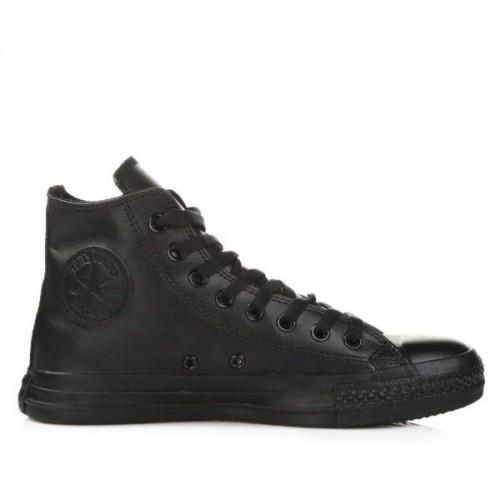 Кеды Converse Chuck Taylor All Stars High Leather All Black (М651)