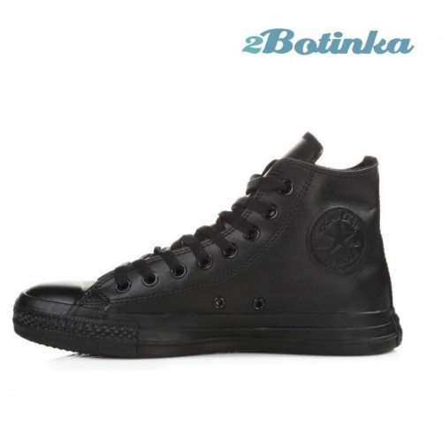 Кеды Converse Chuck Taylor All Stars High Leather All Black (М651)