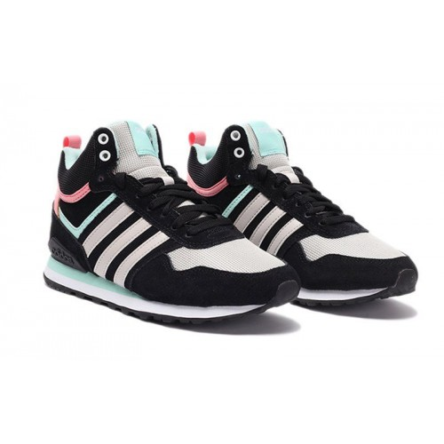 Кроссовки Adidas 10XT WTR MID Black White Pink (О532)
