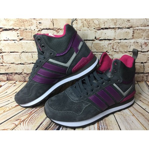 Кроссовки Adidas 10XT WTR MID Grey Purple (О533)
