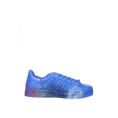 Кроссовки Adidas Superstar Supercolor PW Paint Art Blue (О147)