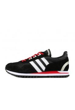 Кроссовки Adidas ZX400 Black White University Red (О455)