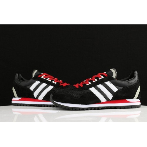 Кроссовки Adidas ZX400 Black White University Red (О455)