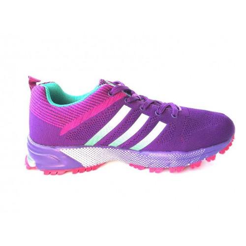 Кроссовки Adidas Marathon Flyknit Фиолетовые (К511)