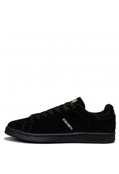 Кроссовки Adidas Stan Smith Suede Black (Е213)