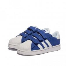 Детские кроссовки Adidas Superstar Blue/White (Е121)
