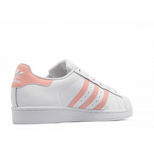 Кроссовки Adidas Superstar White/Peach (Е129)
