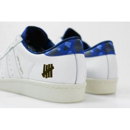 Кроссовки Adidas Consortium X UNDFTD X Bape Superstar 80V White (Е131)