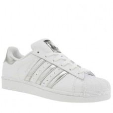 Кроссовки Adidas Superstar Серебро (М121)