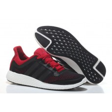 Кроссовки Adidas Pure Boost Black-Red (W321)